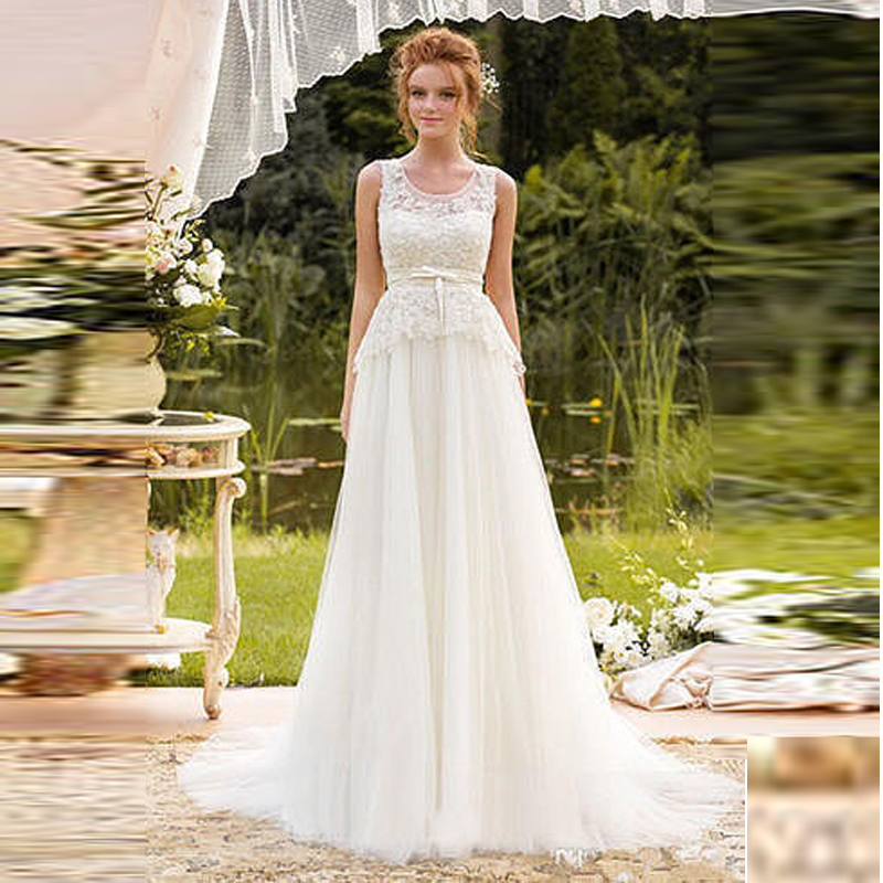 Floor Length White Beach Wedding Dresses Sexy 2017 Vintage