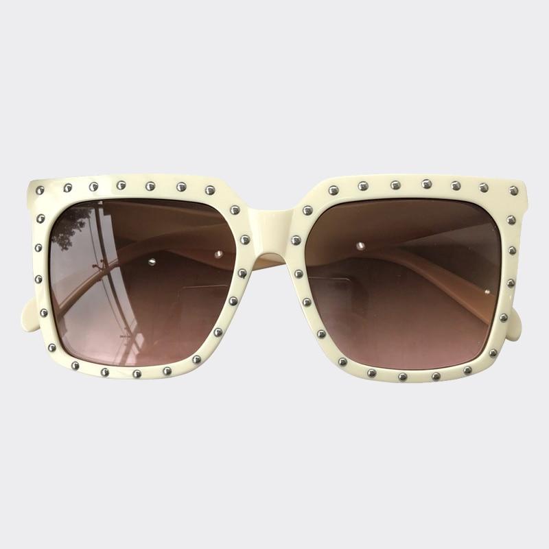 Square Sunglasses Women 2019 Fashion Brand Designer Luxury Rivet Oversize Sun Glasses For Women Vintage Oculos