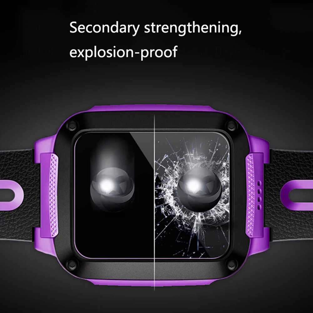 HD vidrio templado Compatible con Apple Watch Series 4 44 40 mm película protectora de pantalla