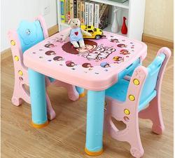 Рабочий стол и стул. Комбинированная таблица. Детский пластиковый стол для стола и стула