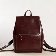 Новый женский в Корейском стиле Простые колледжа отдыха и путешествий сумка мешок компьютера женщины рюкзак Разделение кожи рюкзак Mochila Feminina