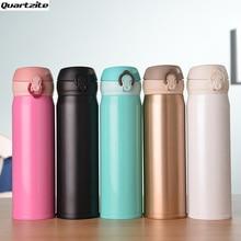 500 ml kugel Edelstahl Thermische Flasche Isoliert Kaffeereisebecher Trinken Flasche in 6 Farben hohe qualität