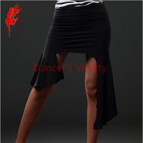 Limited New Arrival Polyester Silk Tango Dress Hcdance Latin Dance Skirts Women Adult Clothe Bottoms Performance Wear  Hot Sale