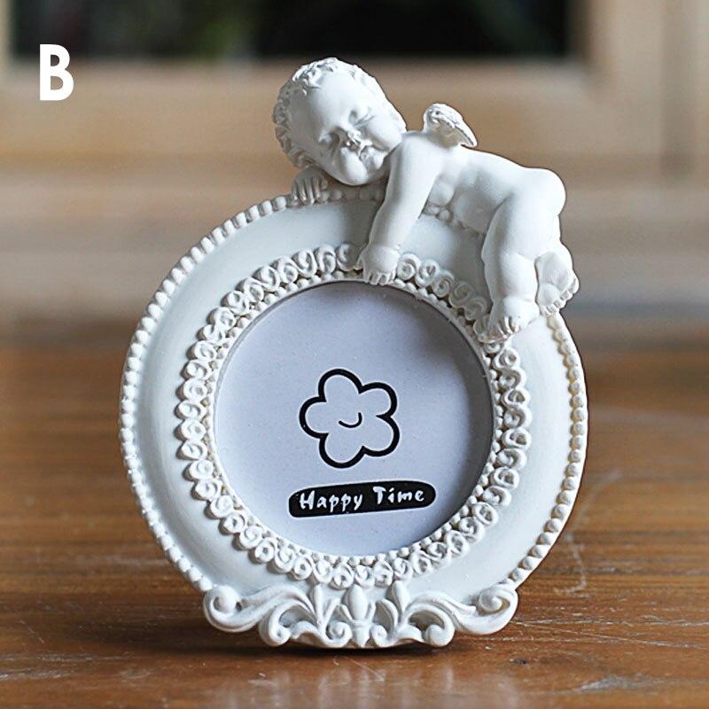 Cute mini creativo Marcos familia imagen del bebé, Blanco barato ...