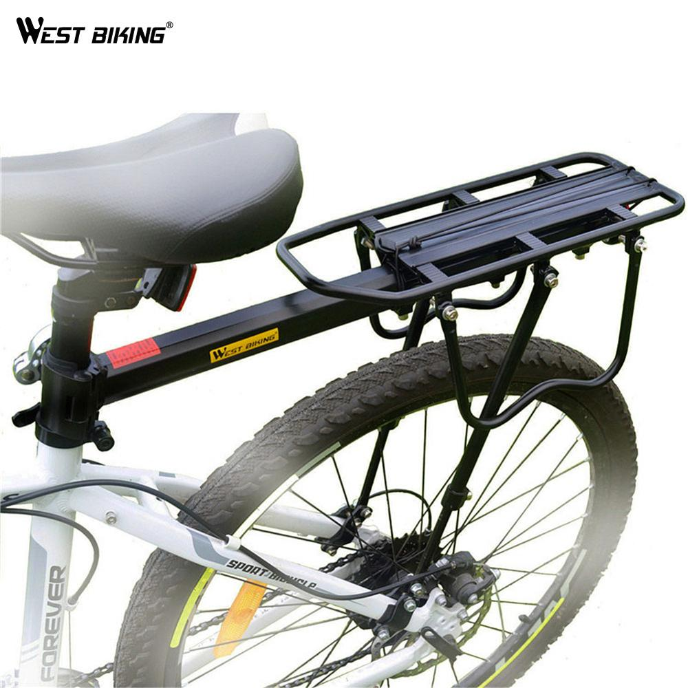 WEST BIKING Bike Rack Aluminum Alloy 50KG Luggage Rear Carrier Trunk for Bicycles MTB Bike Rear