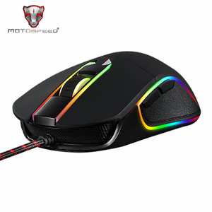 Motospeed V30 RGB программируемая игровая мышь 3500 dpi, USB компьютерная оптическая мышь с подсветкой, светодиодный экран для ПК и игр