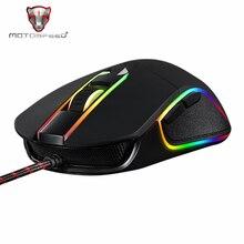 Motospeed V30 RGB programlama 3500 DPI oyun oyun fare USB bilgisayar kablolu optik fareler arkadan aydınlatmalı solunum LED PC oyun için