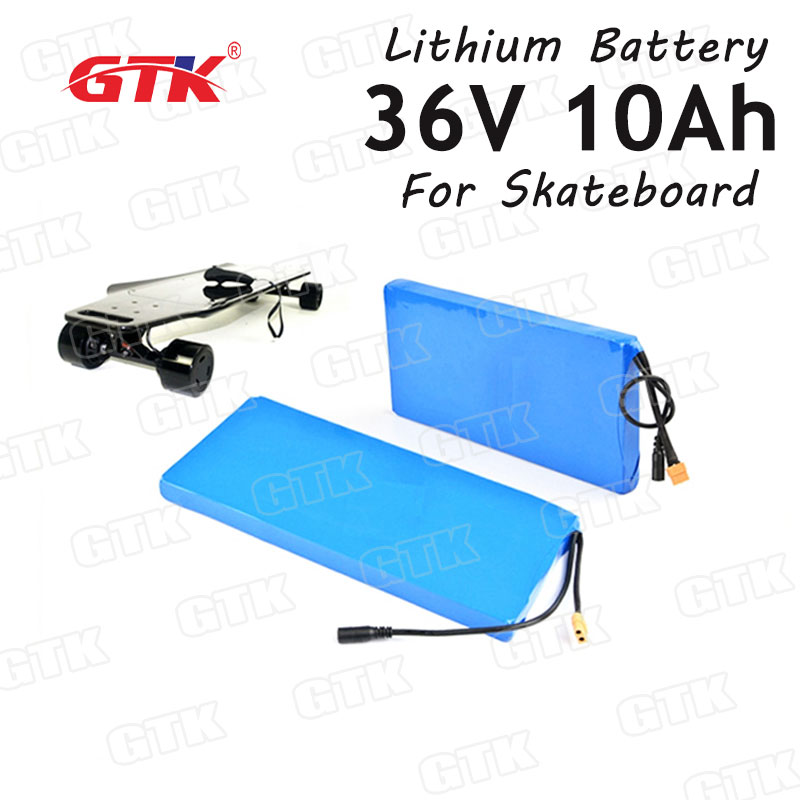 36V 10Ah Lithium ion battery pack 18650 cells for 500W 800W skateboard motorelectric scooter folding electric bike +2A charger