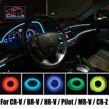 Гибкий Неон Холодный Свет/9 М EL Провод Для Honda Для CR-V/BR-V/HR-V/Пилот/MR-V/CR-Z/Консоль Автомобиля Декоративные Полосы