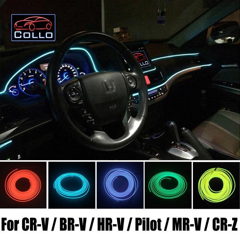 Néon Flexible lumière froide/9 mètres EL fil pour Honda pour CR-V/BR-V/HR-V/pilote/MR-V/CR-Z/Console de voiture bande décorative