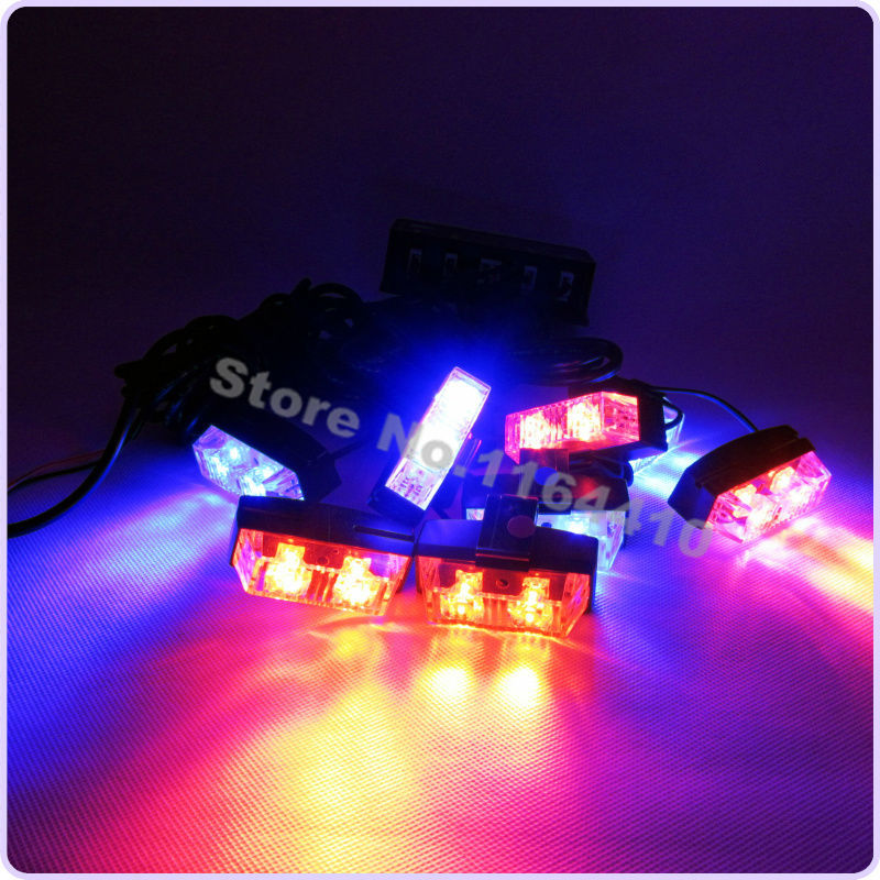 Hot Sell Multi Colored 16 Led 8 Flashing Modes Car