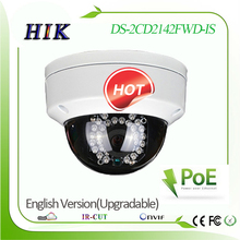 Hik Upgradable English version DS-2CD2142FWD-IS 4MP IP network camera POE Support 128GB Micro SD/TF Card True WDR Audio