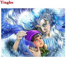Full,Round/square drills Diamond Embroidery mom and baby, 3d ,DIY,Diamond Painting,Cross Stitch,Puzzle Rhinestone Mosaic kits(China)