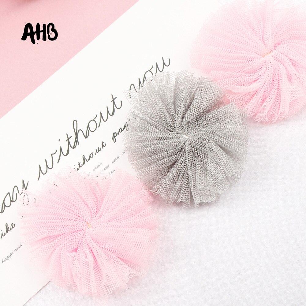 AHB 5cm*5cm Gauze Yarn Hairball For Kids Headband Hair Accessories 10pcs Home Garment Party Decor DIY Toys Cloth