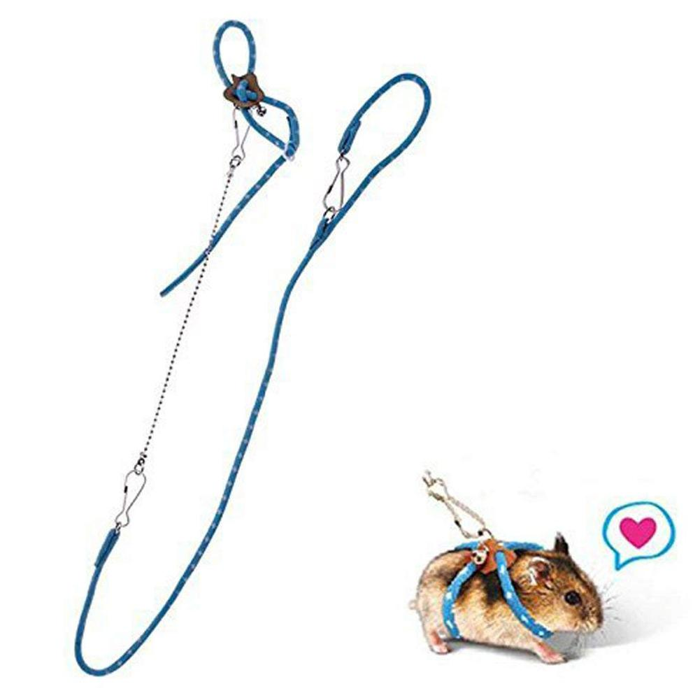 LanLan Pet Hamster Traction Strap Outdoor Training Rope Pet Leash Pet Harness For Hamster Guinea Pig