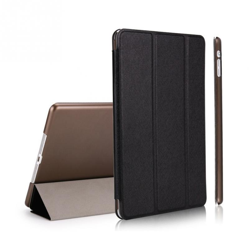 Ultra Slim Shockproof Case For iPad Air 2 Smart Wake-up Sleep Stand Folding PU Leather Flip Cover for Apple iPad Air 2 smart cover case for ipad kaku original official leather ultra thin stand cases for apple ipad air 1 2with wake up free shipping