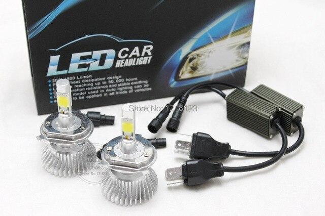 1set 40W J.P. COB CXA 1512 H4 led headlights car H8 H9 H10 880 881 9005 9006 HB4 H3 H1 LED headlight headlamp bulbs 2800LM