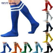Лидер продаж VOT7 VOT7 Для мужчин модные гольфы в полоску Носки для девочек 43 см длина высокие носки 22 сентября