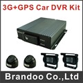 3g Bus DVR completed system, with 4pcs AHD Car cameras for bus real time monitoring sold by Brandoo