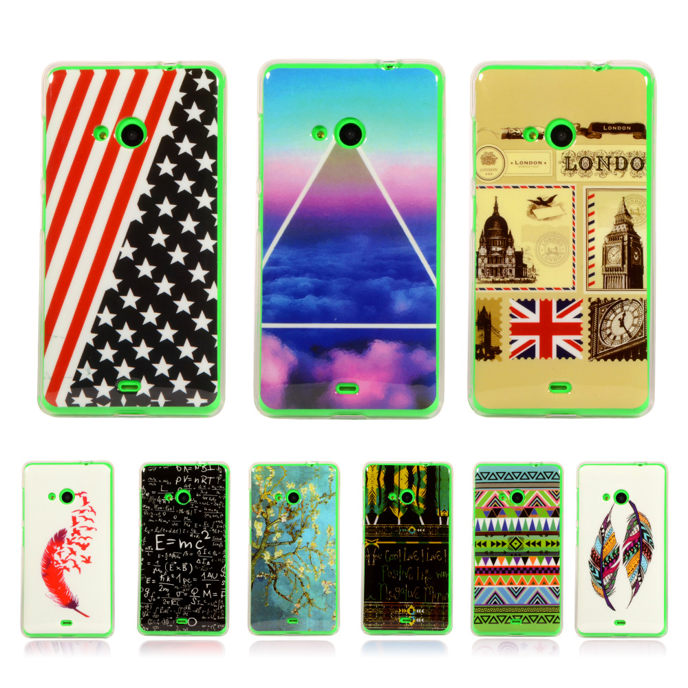 Lovely Tribe Cartoon Rubber TPU Protective Case For Nokia s