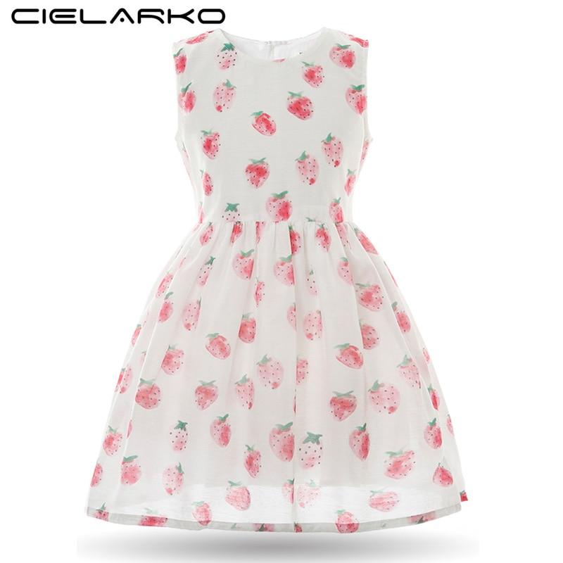 Cielarko fete rochie de căpșuni Casual roz copii rochii de fructe - Haine copii