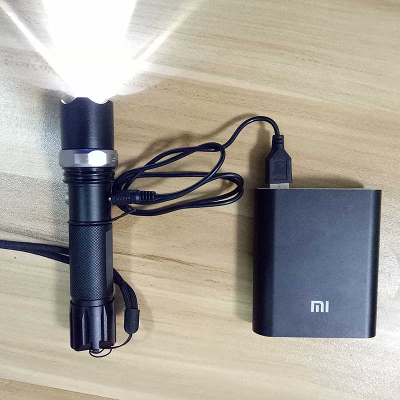 Linterna LED Litwod Z20 CREE XM-L2 U3 linterna táctica LED con zoom 5 modos linterna recargable funcionamiento 10 horas