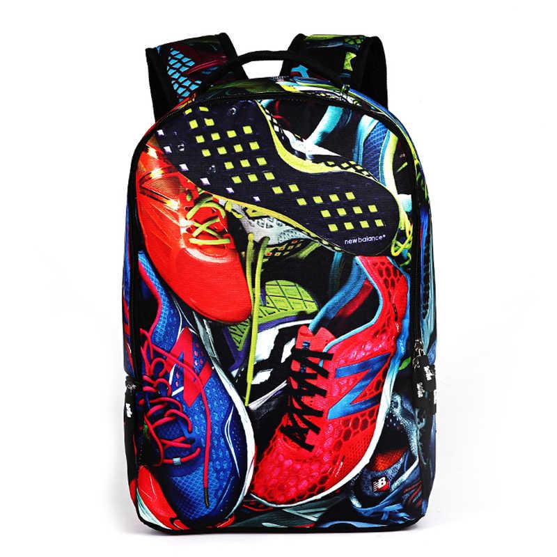 Для мужчин школьные рюкзак хиппи рок граффити Винтаж принтованные школьные сумки для дорожные сумки для мальчиков мужской рюкзак Bolsos Mujer