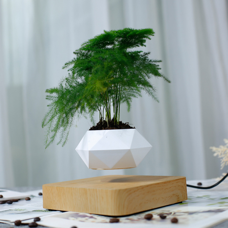 <font><b>Magnetic</b></font> Levitating Suspension <font><b>Flower</b></font> <font><b>pot</b></font> Planters Air Floating <font><b>Pot</b></font> Potted levitation plant <font><b>pot</b></font> bonsai Home wedding decoration image