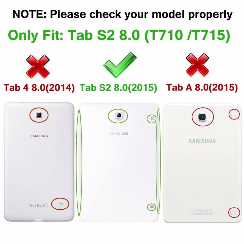 Funda con funda para libro inteligente para el Tab S2 T710 T715 T713 - Accesorios para tablets - foto 2