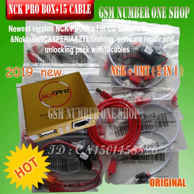 2019 O Mais Novo Original NCK caixa Pro caixa NCK Pro 2 (suporte NCK + UMT 2 em 1) para Huawei + 16 cabos