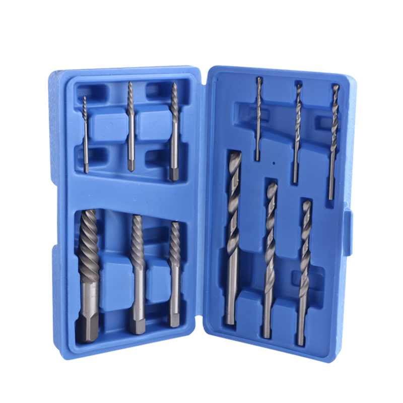 цены 12pcs Drill Bit Set Damaged Screw Extractor Broken Bolt Easy Out Remover Tool Kit