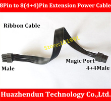 New Arrive   Refined Graphics Power CPU 8Pin Male to 8(4+4)Pin Male  Extension Power Cable   4+4Magic Port   Parallel  Cable