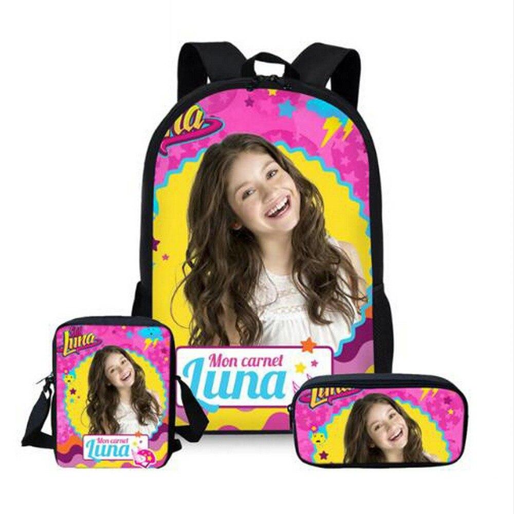 Customized School Bags For Teenager Girls Soy Luna Travel Backpacks Kids Schoolbag Backpack 3pcs Schoolbags Mochila Infantil