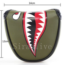 Golf New Customized Golf Mallet Putter Headcover PU Leather Multi Style Football Crocodile Red Cross