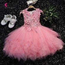 XCOS/Лидер продаж года; Недорогие Платья с цветочным узором для девочек; платье для свадебной вечеринки с блестками; vestido daminha