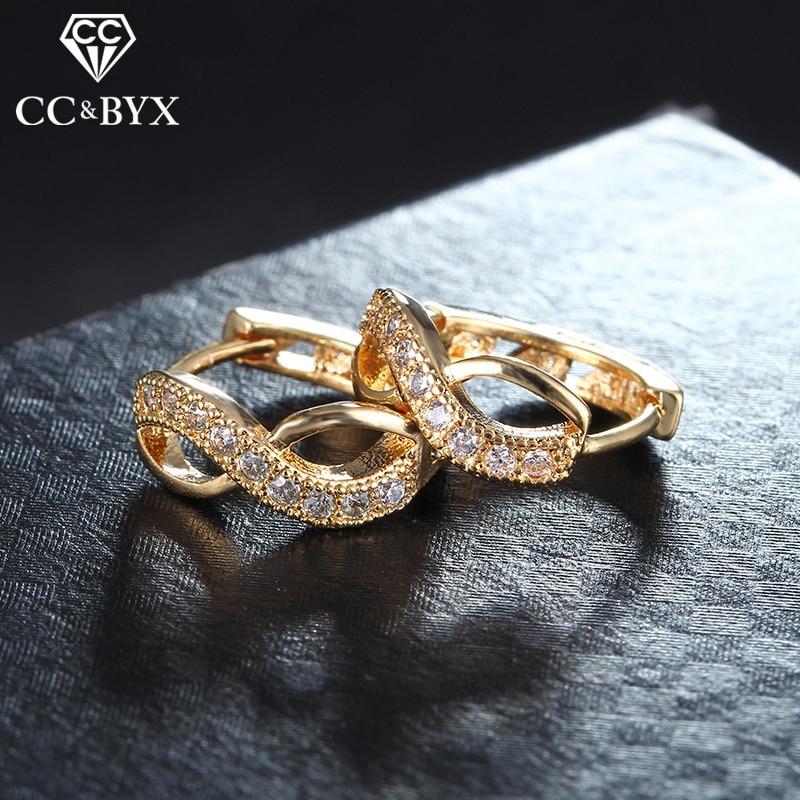 High Quality Small Hoop Earrings For Women AAA Zirconia Women's Rose Gold Color Earrings Jewelry Best Gifts Bijoux Jewelry E053