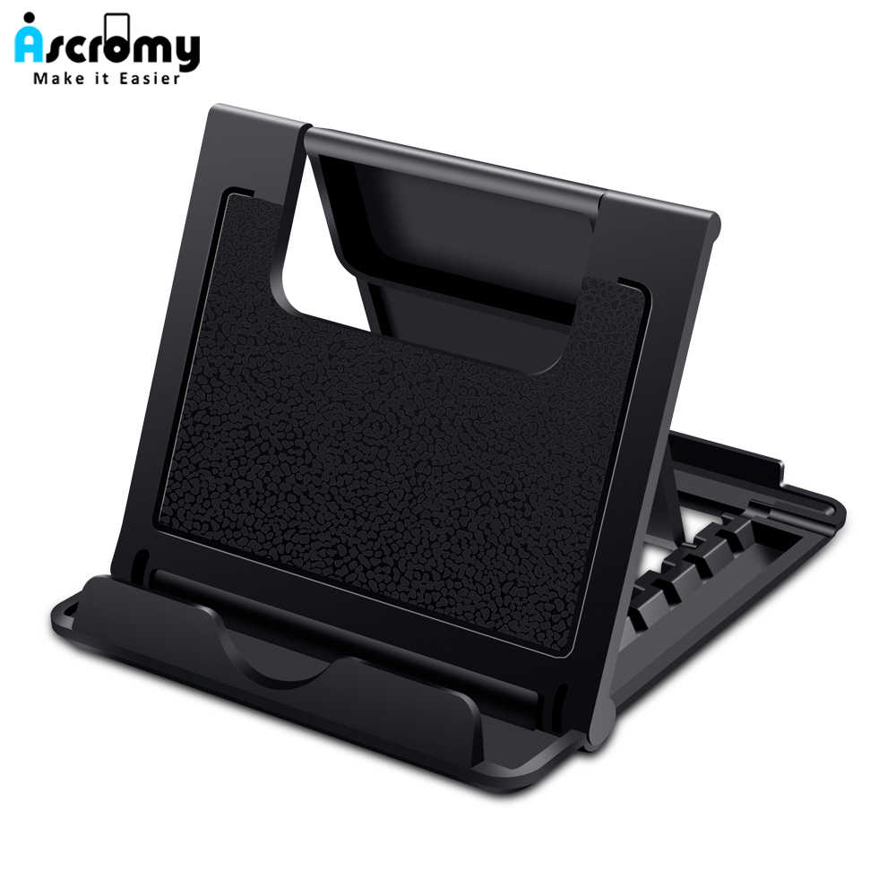 Ascromy Universal Foldable Tablet Stand Mount untuk iPad Mini Pro Samsung Tab Nintendo Switch iPhone X 8 LG Meja Sel pemegang Telepon