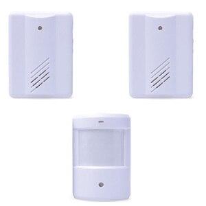 Image 1 - wirless infrared alarm Door Bell Driveway Patrol Garage System Motion Sensor 1 Transmitter With 2 Receivers