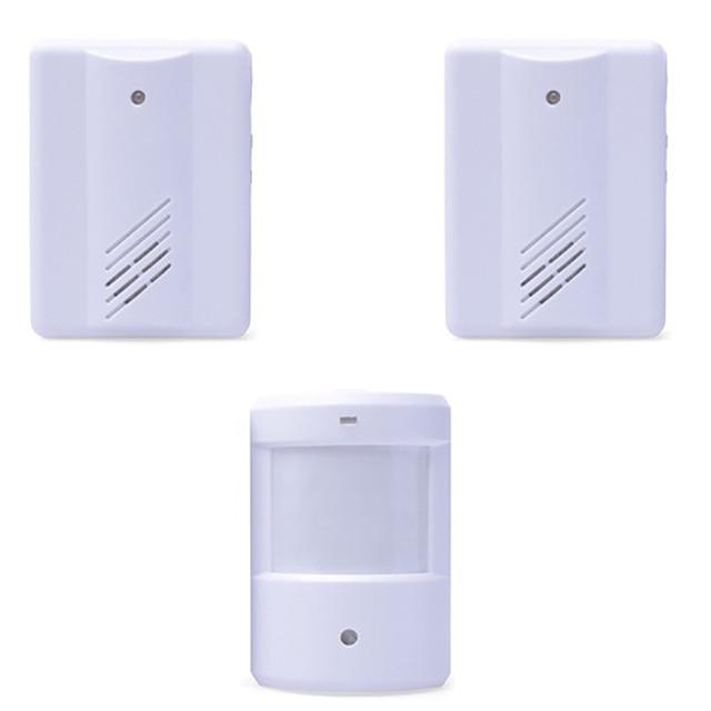 wirless infrared alarm Door Bell Driveway Patrol Garage System Motion Sensor 1 Transmitter With 2 Receivers