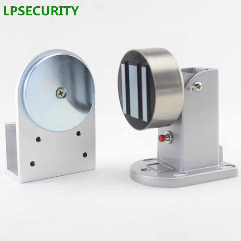 LPSECURITY 12V/24VDC 60kg Electric Solenoid Magnetic Door Gate Stopper Holder Sucker For Fire Emergency Fail Safe Model