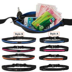 """Водонепроницаемый двойной карман талия бедра мешок Регулируемая нагрудная Повседневная сумка 5,5 """"Телефон кошелек-брелок для ключей деньги"""