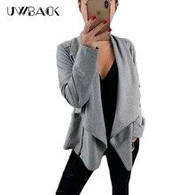 2019 New  Women Fleece Lapel Zipper Loose Sweater Autumn And Winter Shirt Jacket Female Clothes Irregular DB151