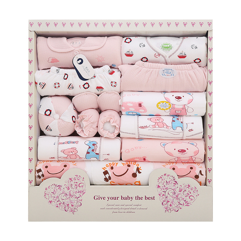 Baby Clothes Set 18pcs Newborn Girl Cotton Clothe 0-3M Bebes Long Sleeve Baby Boy Clothing Gift Suit Infant Clothing Bebek giyim 2pcs set baby clothes set boy