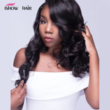 Ishow Hair Brazilian Body Wave Bundles 100% Human Hair 3 eller 4 Brazilian Hair Weave Bundles kan köpa Non Remy Hair Extensions 1pc