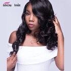 Ishow Hair Brazilian Body Wave Hair Bundles 100% Human Hair Weave Bundles 1/3/4 Bundles Natural Color Non Remy Hair Extensions