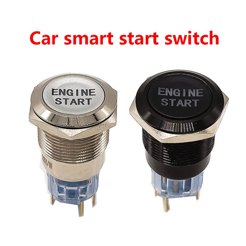 12V Waterproof Car Engine Start Push Button Switch Ignition Starter Replacement Enginee