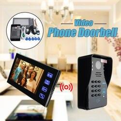 """Safurance 7 """"ЖК-дисплей RFID видео дверной звонок Домофон Системы сенсорный ключ ИК Камера охранных автоматизации зданий"""
