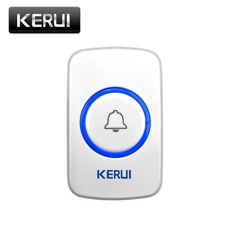 KERUI 433MHz Wireless Panic Button SOS Emergency Button For Home Security Alarm System Home Voice Wireless Smart M525 Doorbell