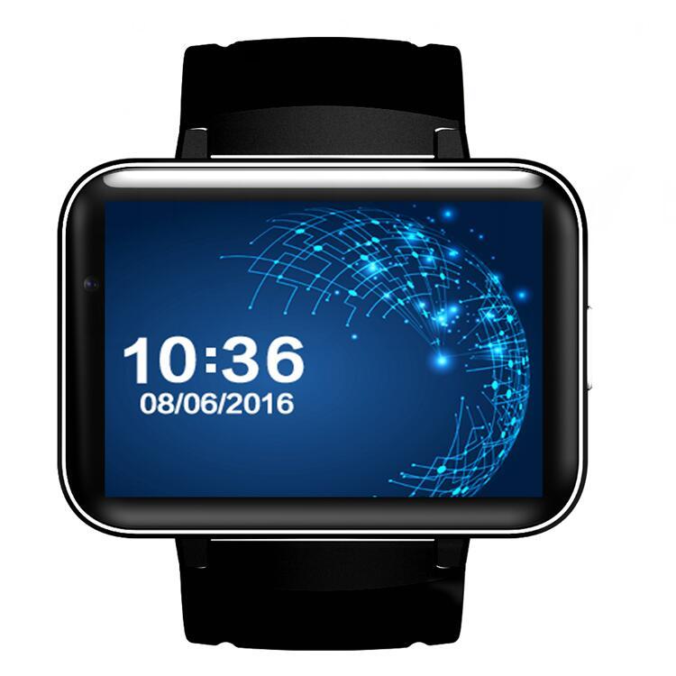 Prix pour DM98 montre Intelligente MTK6572 Dual core 2.2 pouce HD IPS LED écran 900 mAh 4 GB Rom Smartwatch téléphone Android OS caméra 3G GPS WIFI