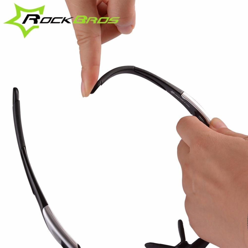 Rockbros Polarized Photochromic Bersepeda Kacamata Perubahan Warna Sunglasses Sepeda Black Lensa Untuk Jalan Mtb Eyewear Dengan Bingkai Miopia Di